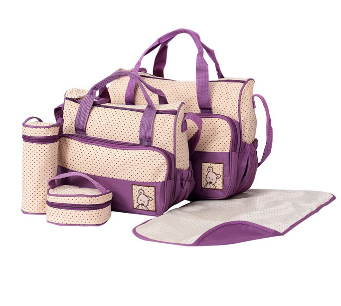diaper bag 5 in 1 purple marissa shoppe. Black Bedroom Furniture Sets. Home Design Ideas
