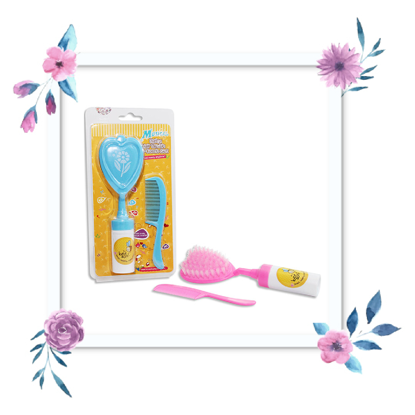 Bee Son Baby Hair Brush Comb With Music Marissa Shoppe Pigeon Ampamp Set